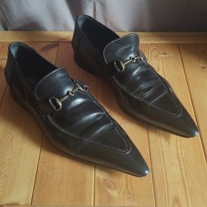 Mare Uomo Super Pointy Black Loafers 10